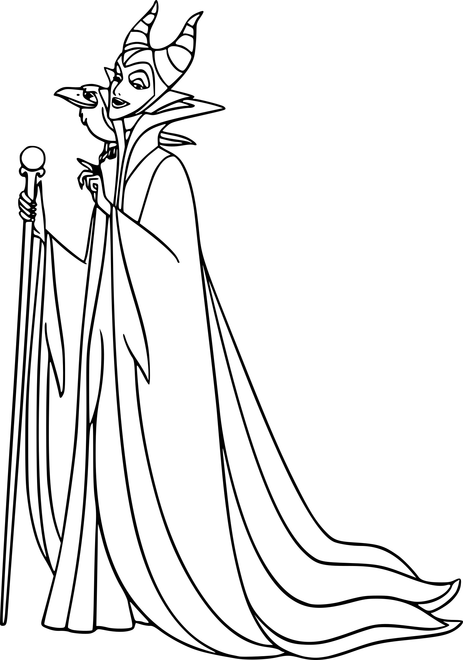 The gallery for maleficent dragon coloring page for Maleficent coloring pages