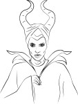 Coloriage Malefique Angelina Jolie