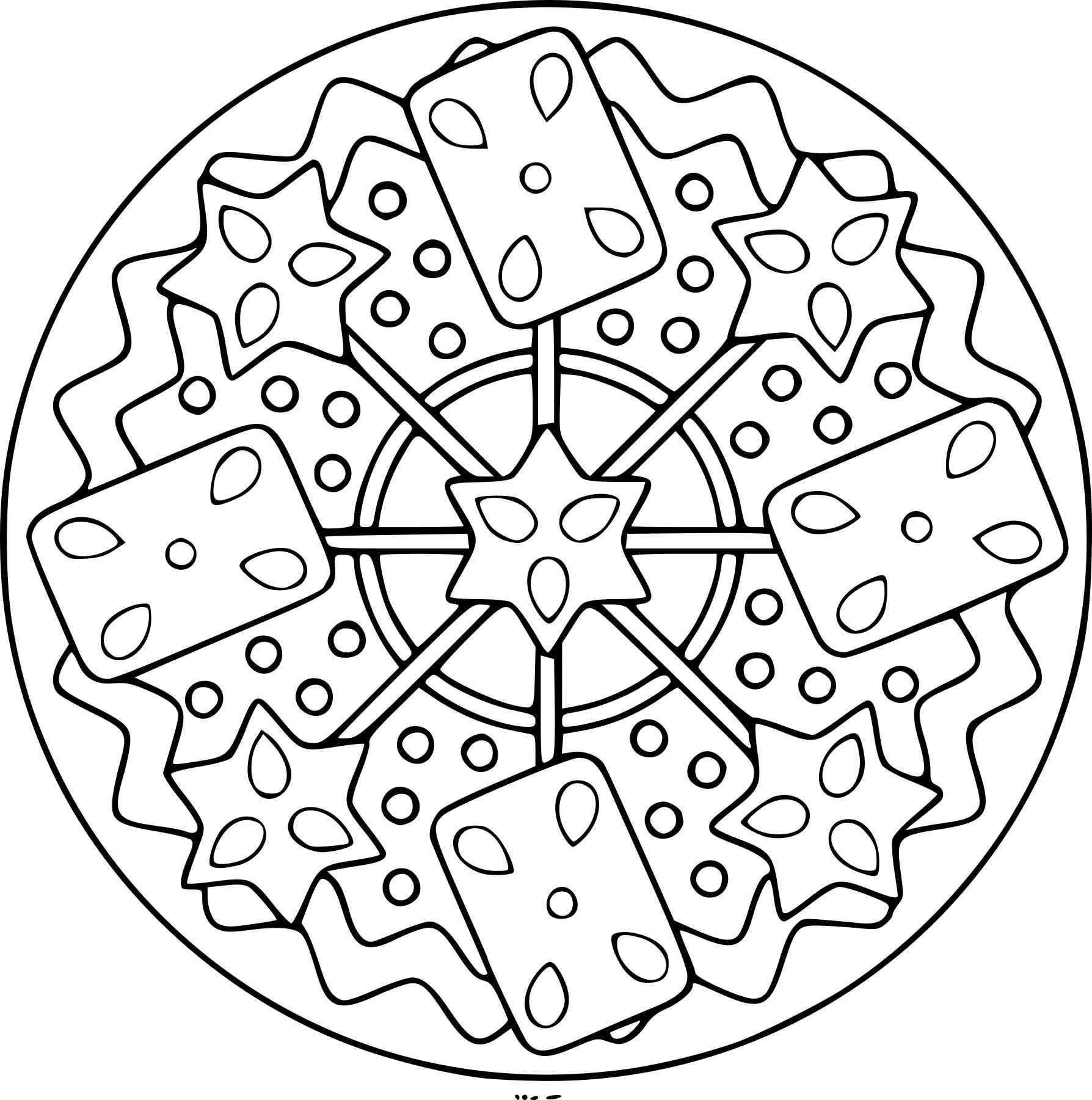 coloriages mandalas hiver