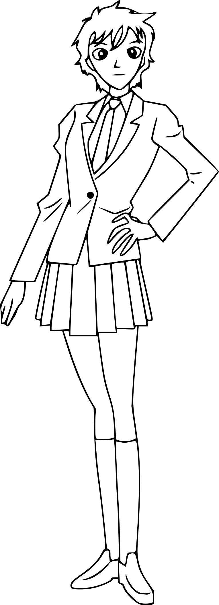 Coloriage Masumi Sera Detective Conan