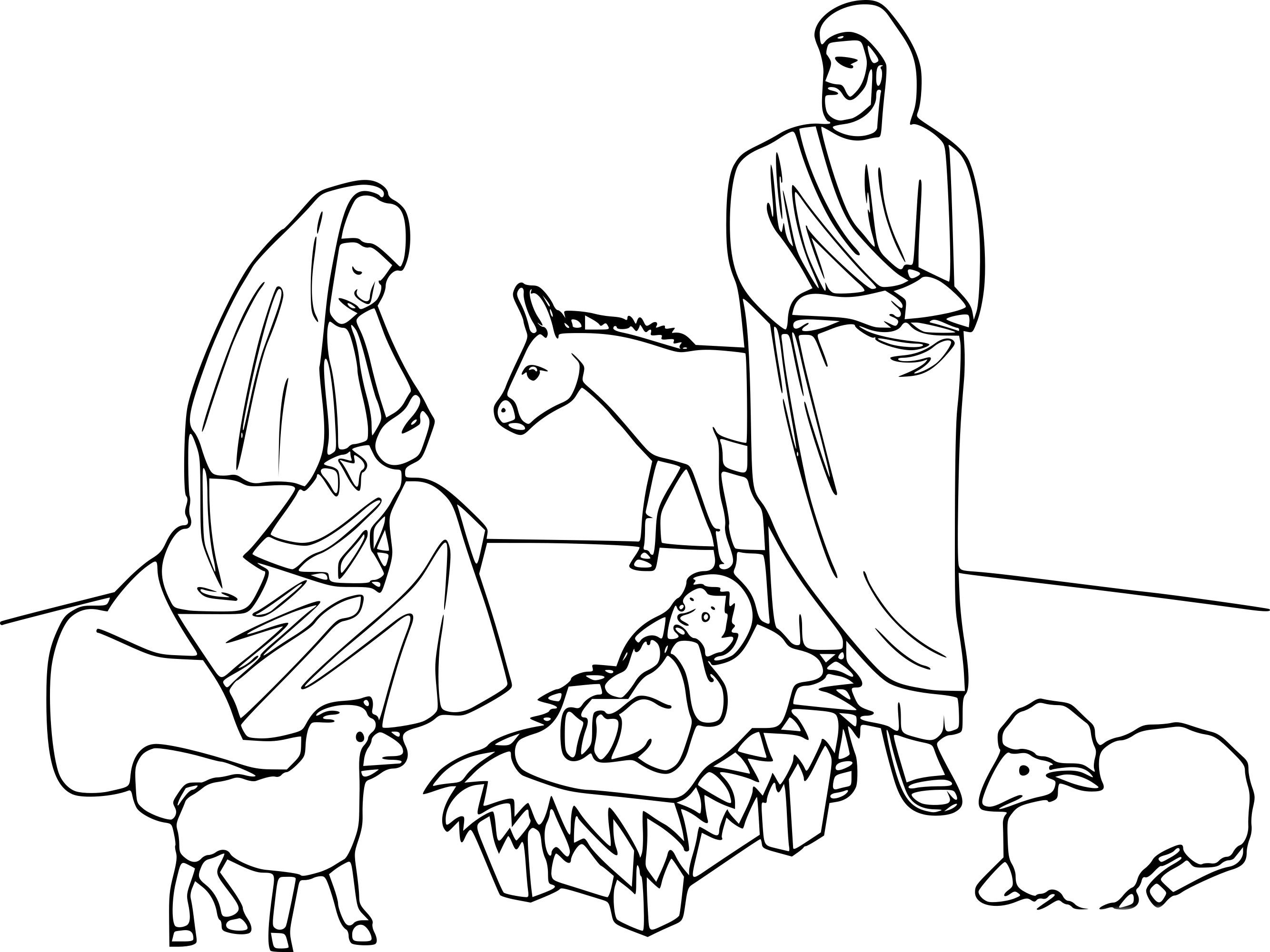 Coloriage naissance de jesus imprimer - Coloriage image ...