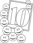 Coloriage nombre 10