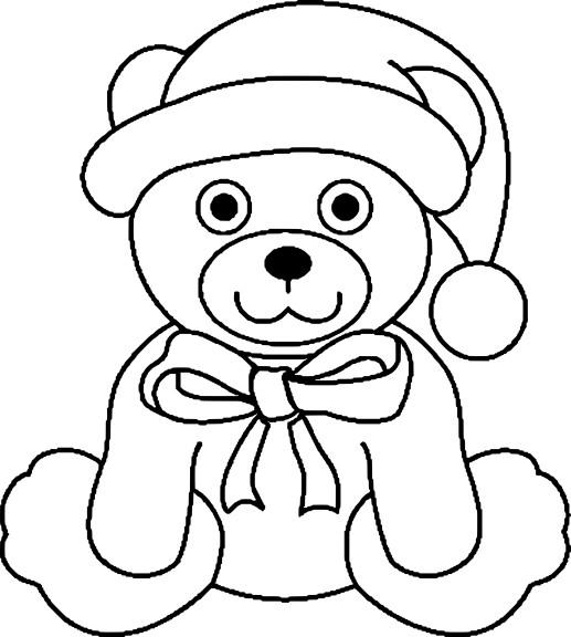 Coloriage ours de Noel à imprimer