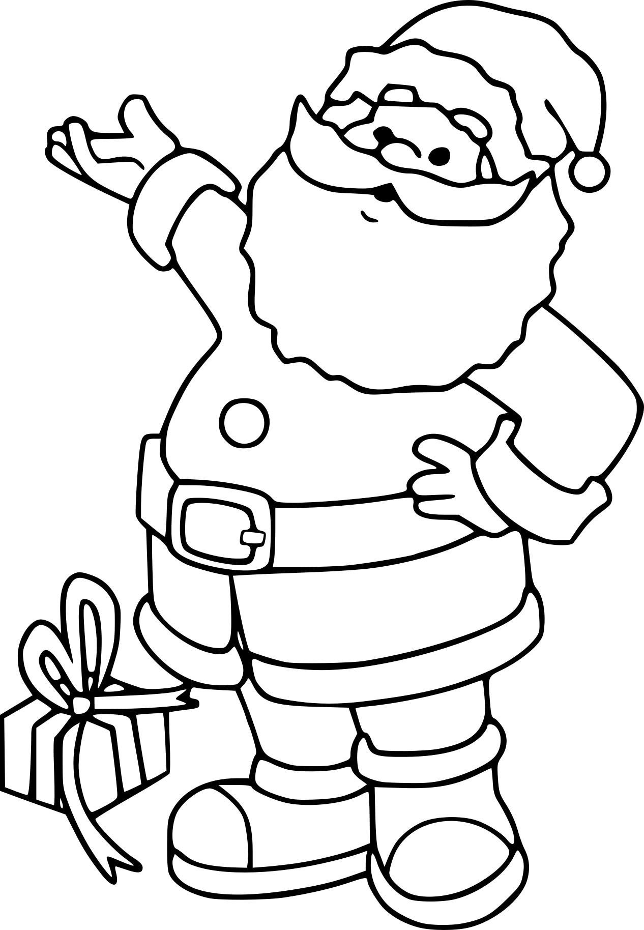 Coloriage Papa Noel à imprimer