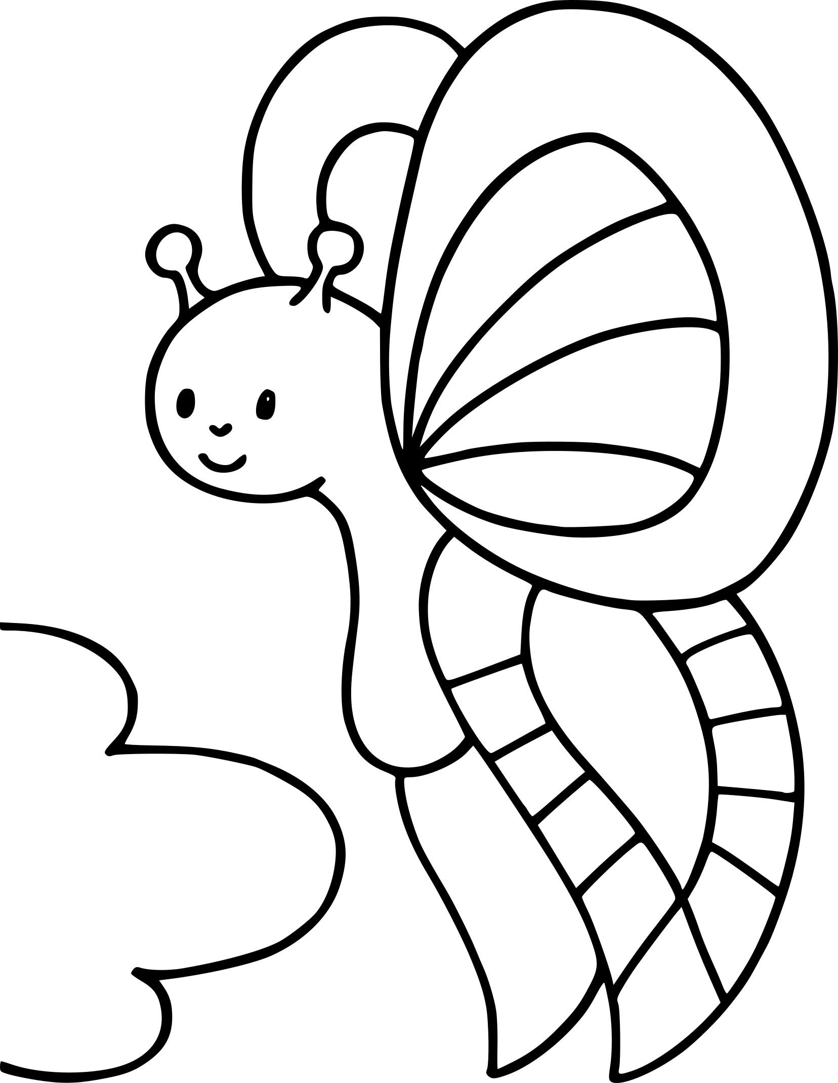 Coloriage papillon maternelle à imprimer