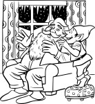 Coloriage Pere Noel et lutin