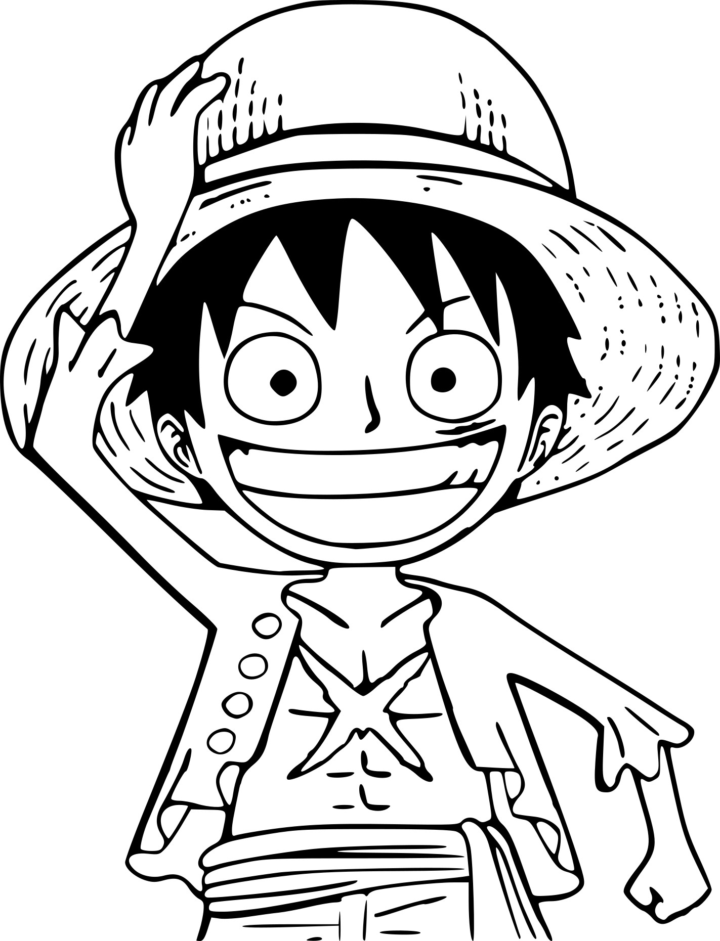 Coloriage petit One Piece