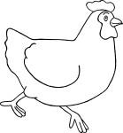 Coloriage poule