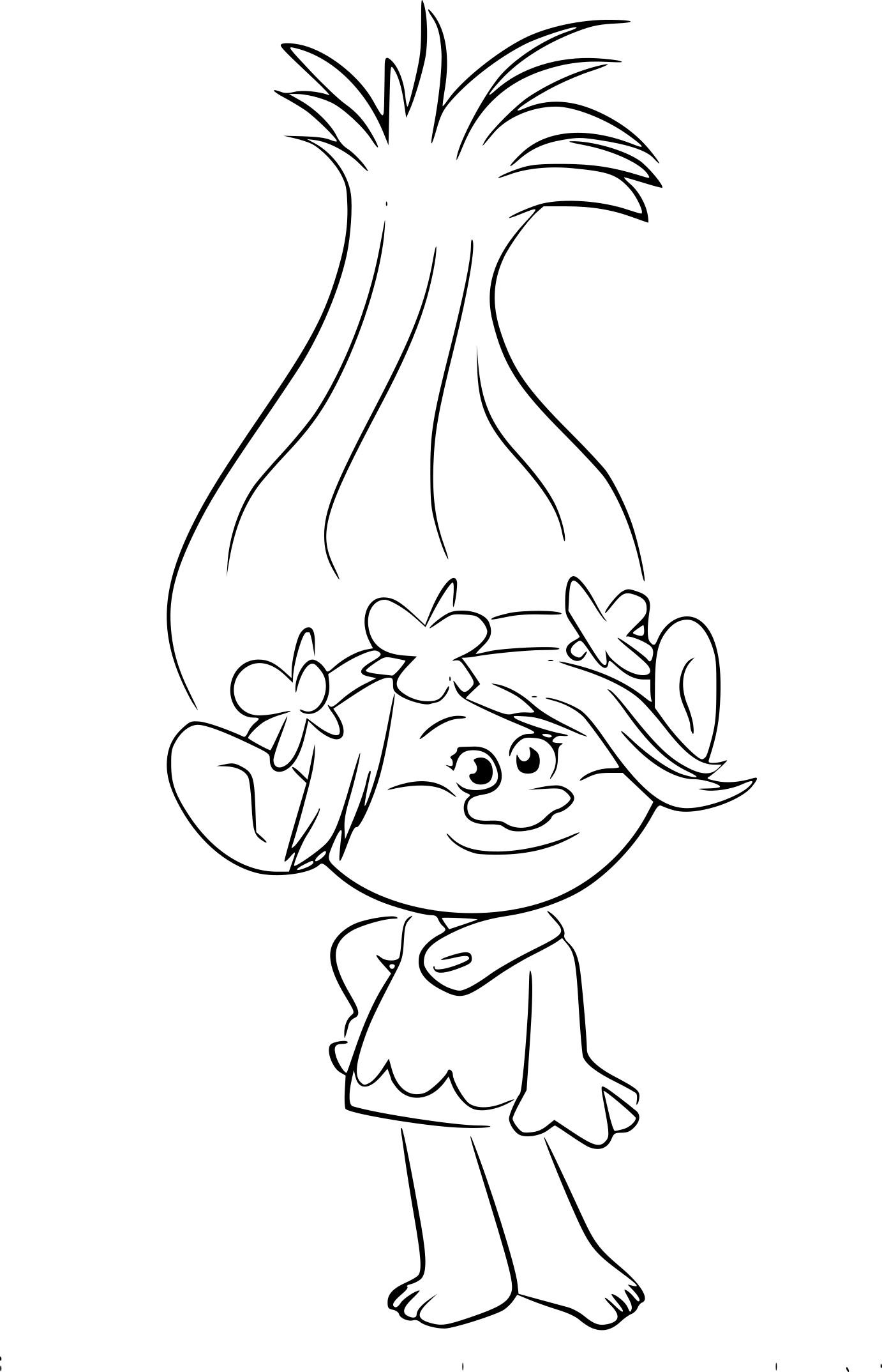 Coloriage princesse Poppy