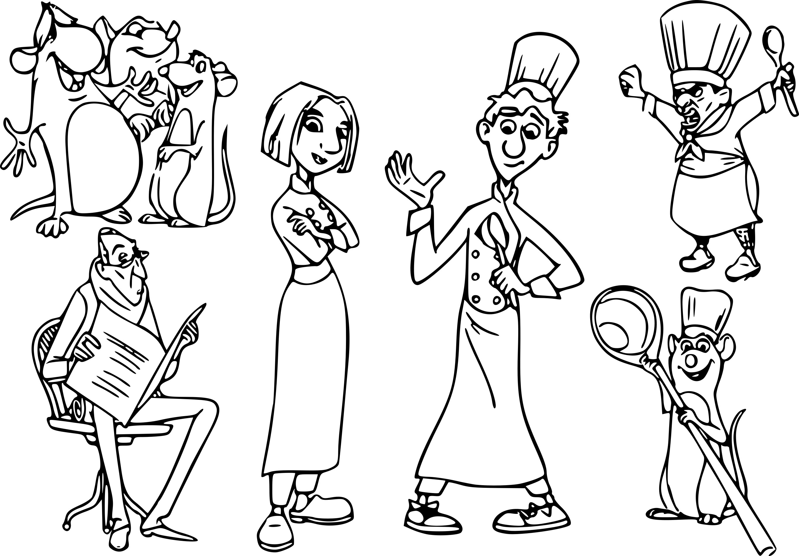 Coloriage Ratatouille Disney