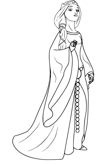 Coloriage Reine Elinor