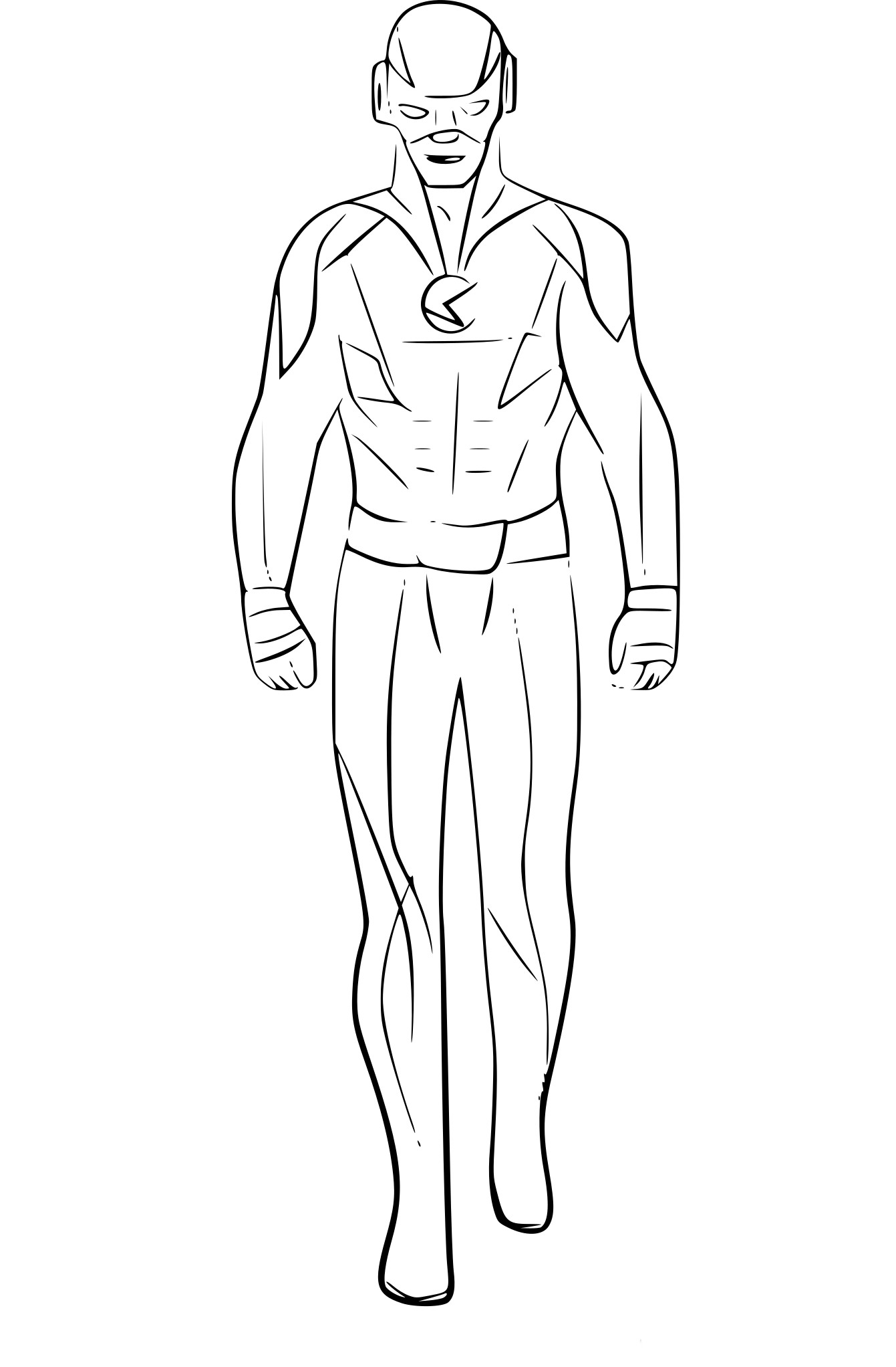 Coloriage Flash.Coloriage Reverse Flash De The Flash A Imprimer
