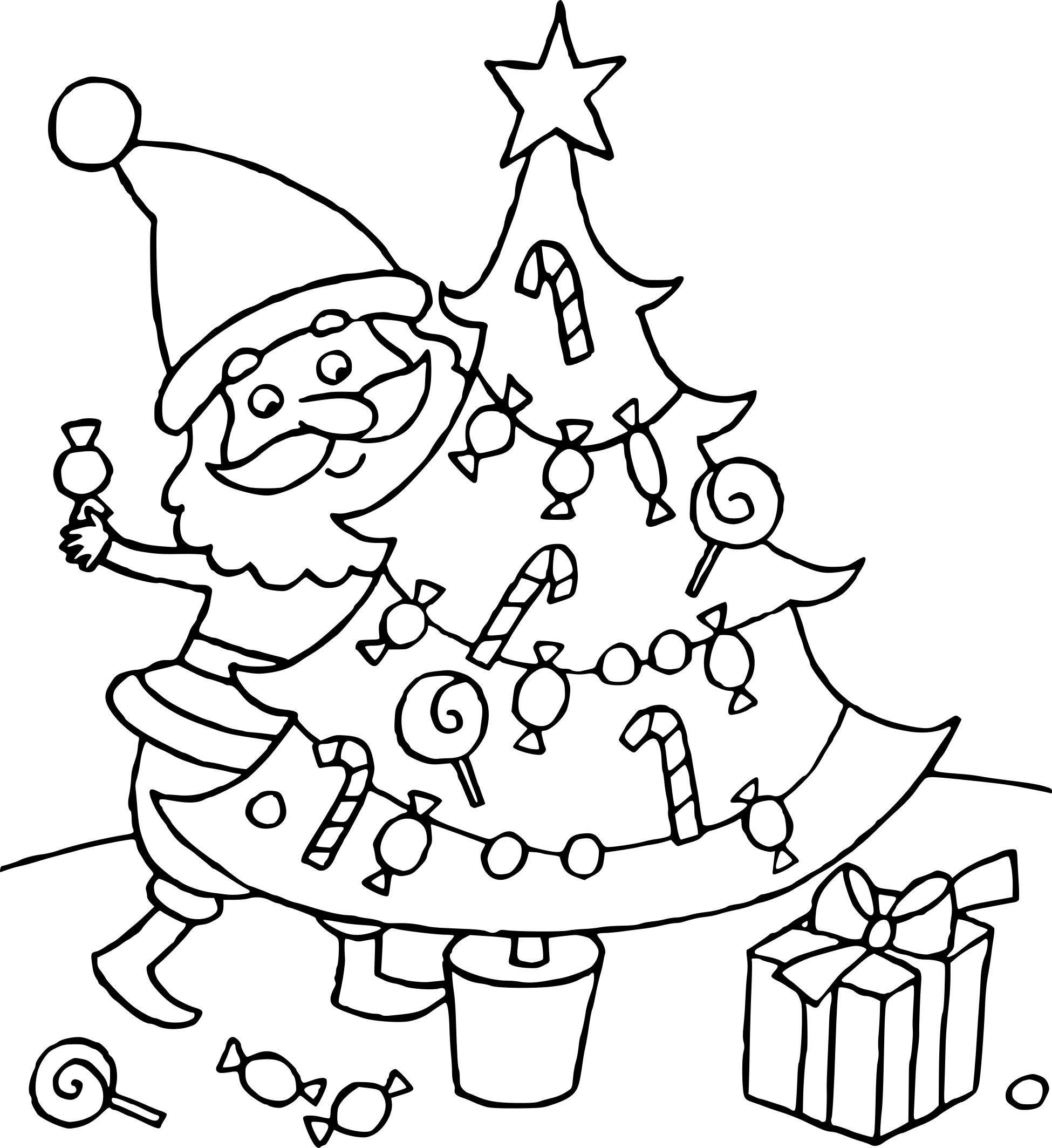coloriage sapin de noel et pere noel imprimer. Black Bedroom Furniture Sets. Home Design Ideas