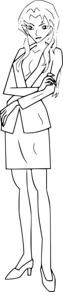 Coloriage Sharon Vineyard Detective Conan