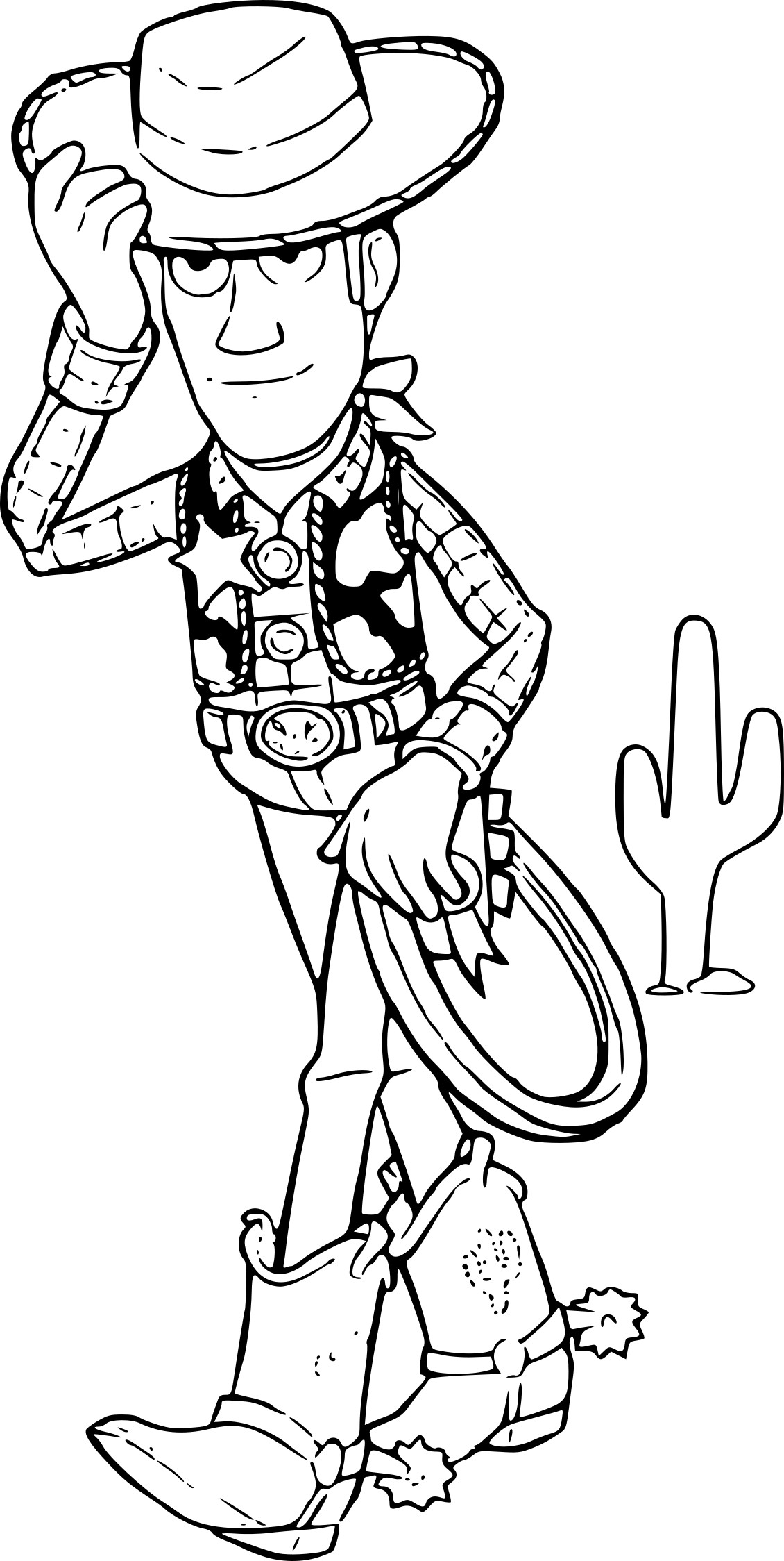 Coloriage Disney Woody.Coloriage Sherif Woody A Imprimer