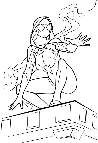 Coloriage Spider-Gwen