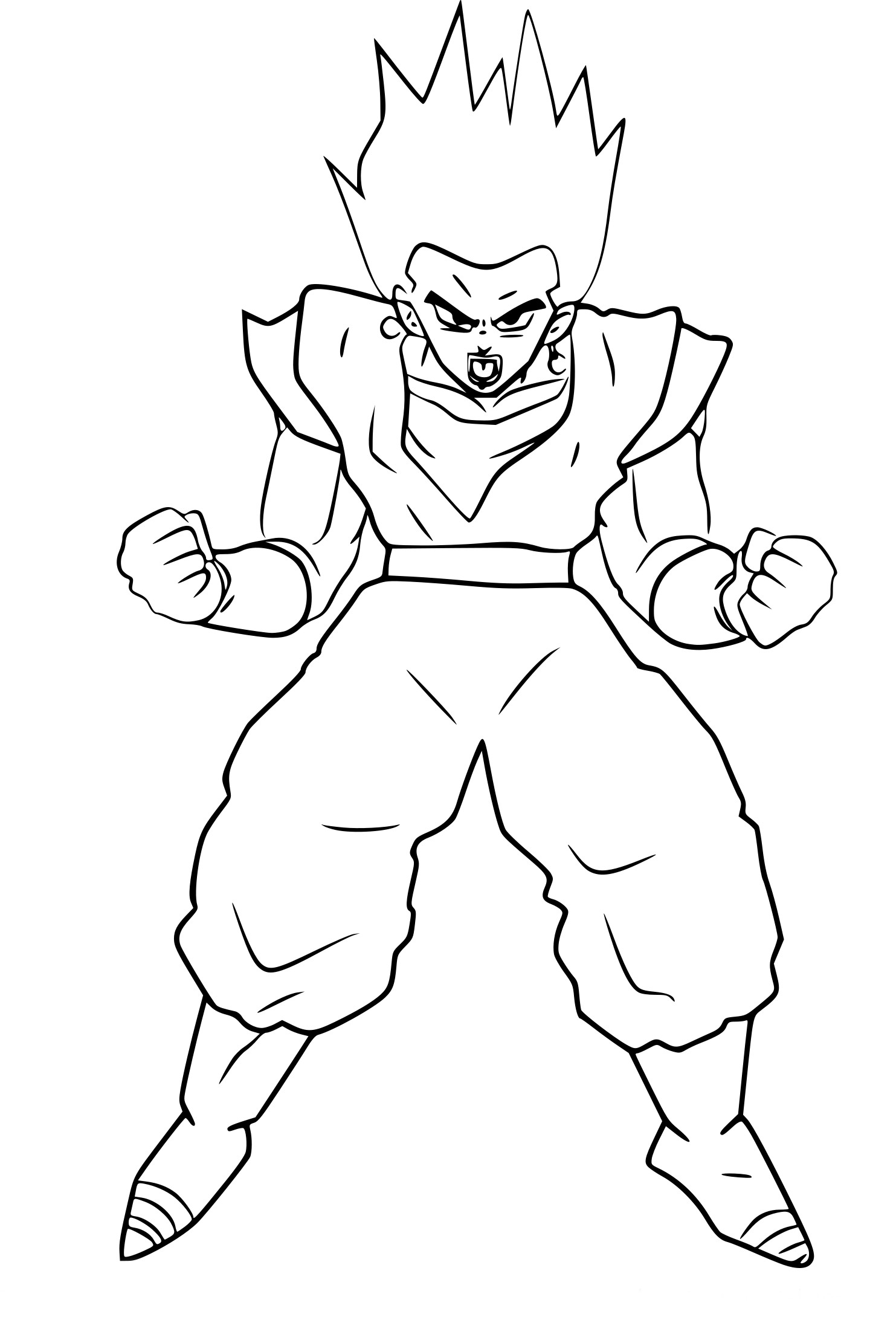 Coloriage vegeto dragon ball z imprimer - Dessin dragon ball z facile ...