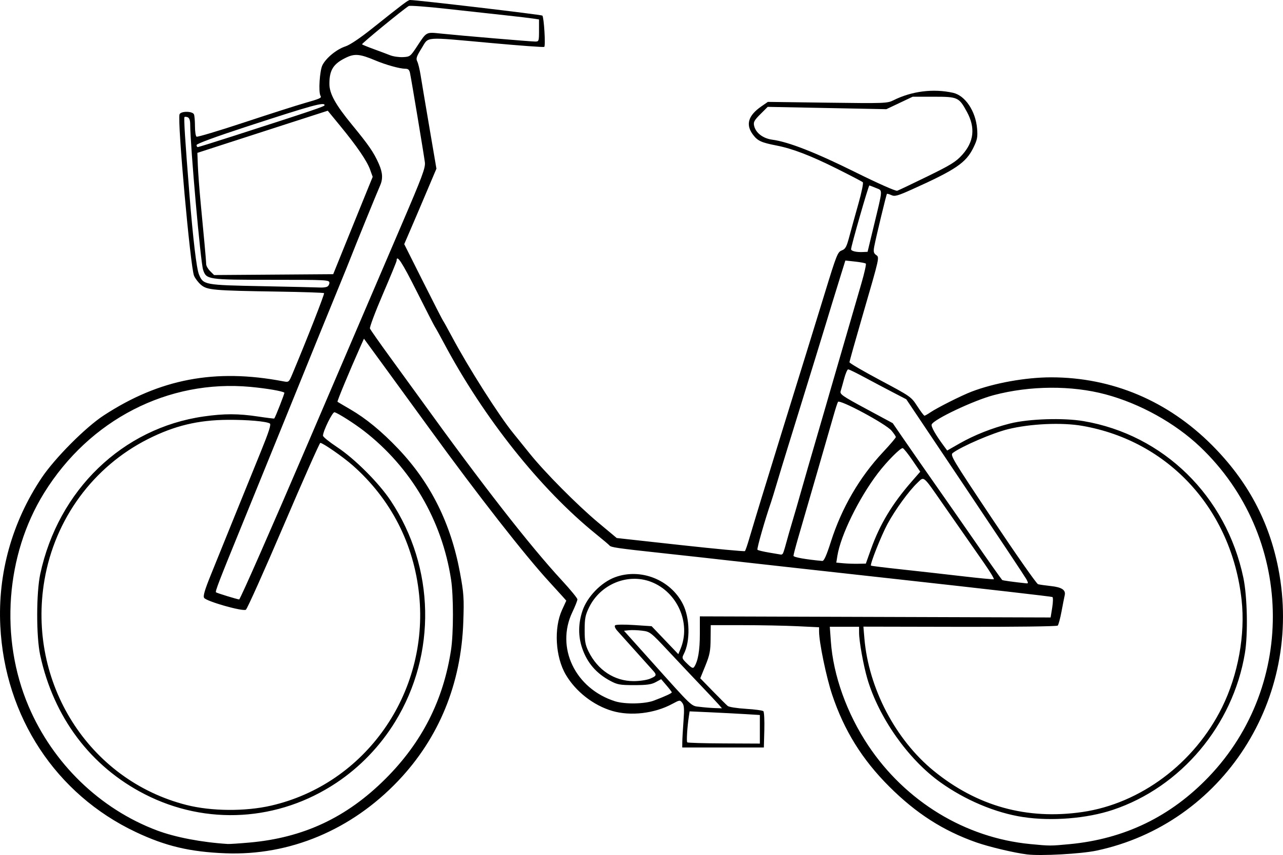 Line Drawing Bicycle : Coloriage velo à imprimer