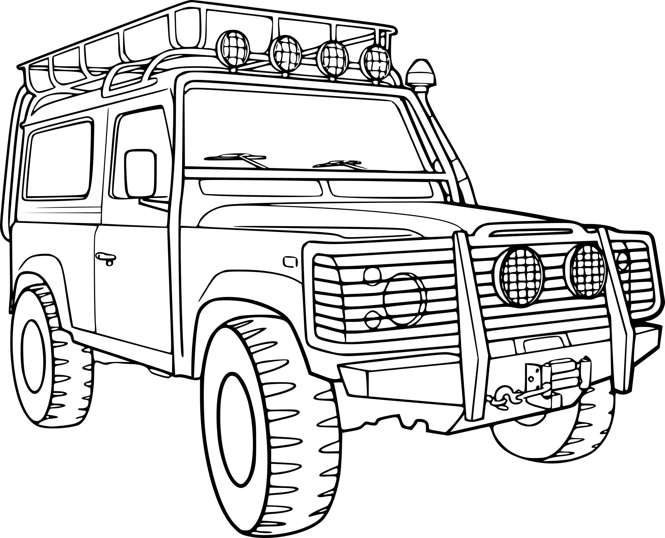 Coloriage voiture 4×4 à imprimer