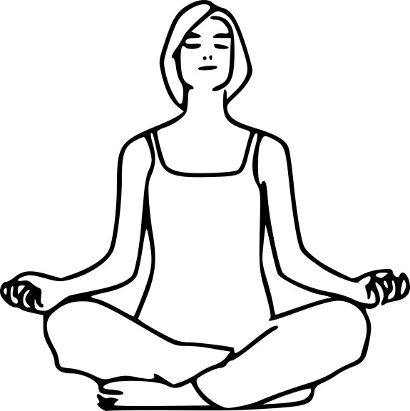 Coloriage yoga