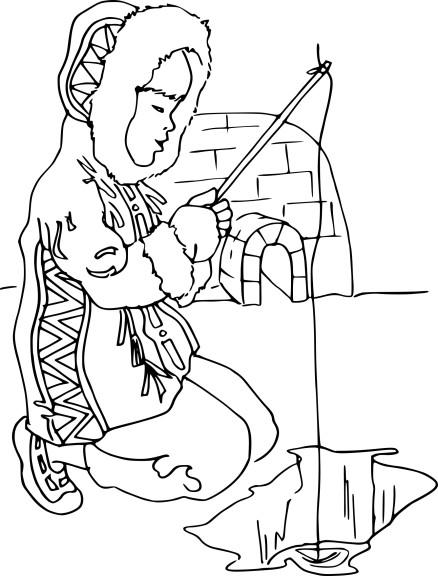 Coloriage esquimaux et dessin imprimer - Esquimau dessin ...
