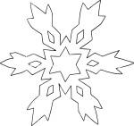 Flocon de neige coloriage