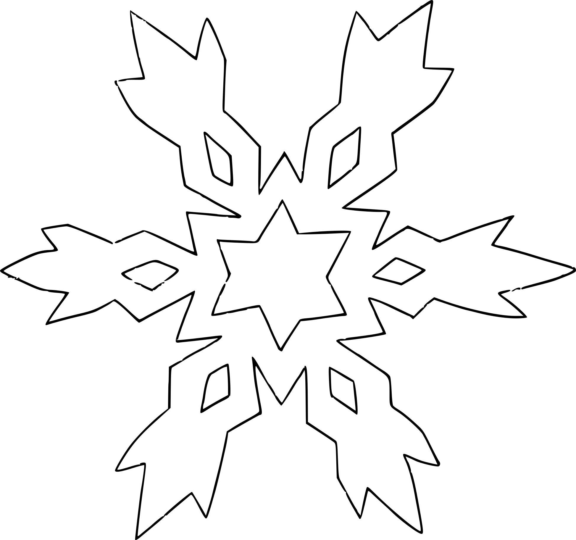 Coloriage flocon de neige gratuit à imprimer