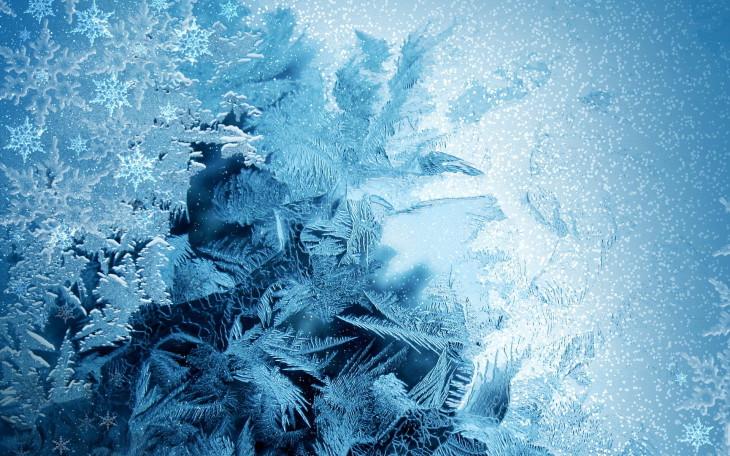 Flocon de neige fond