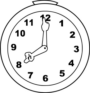 Horloge coloriage
