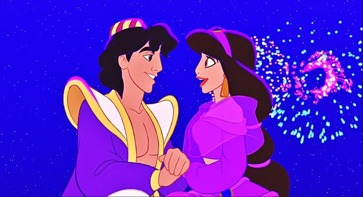 Jasmine et Aladdin Disney