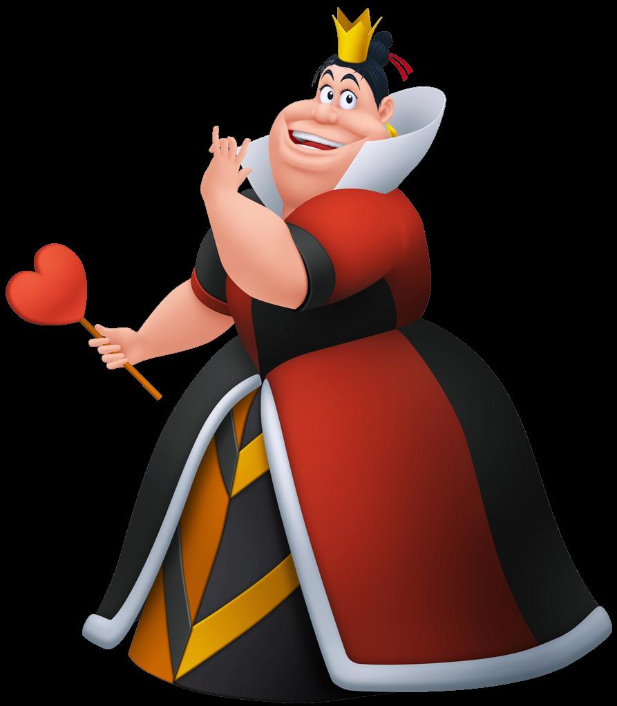 La reine de coeur Coloriage Disney