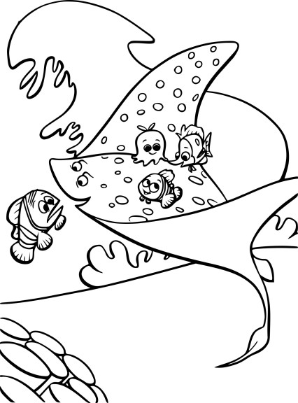 Le monde de Nemo coloriage