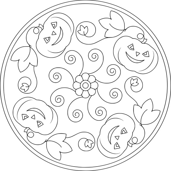 Mandala Halloween dessin