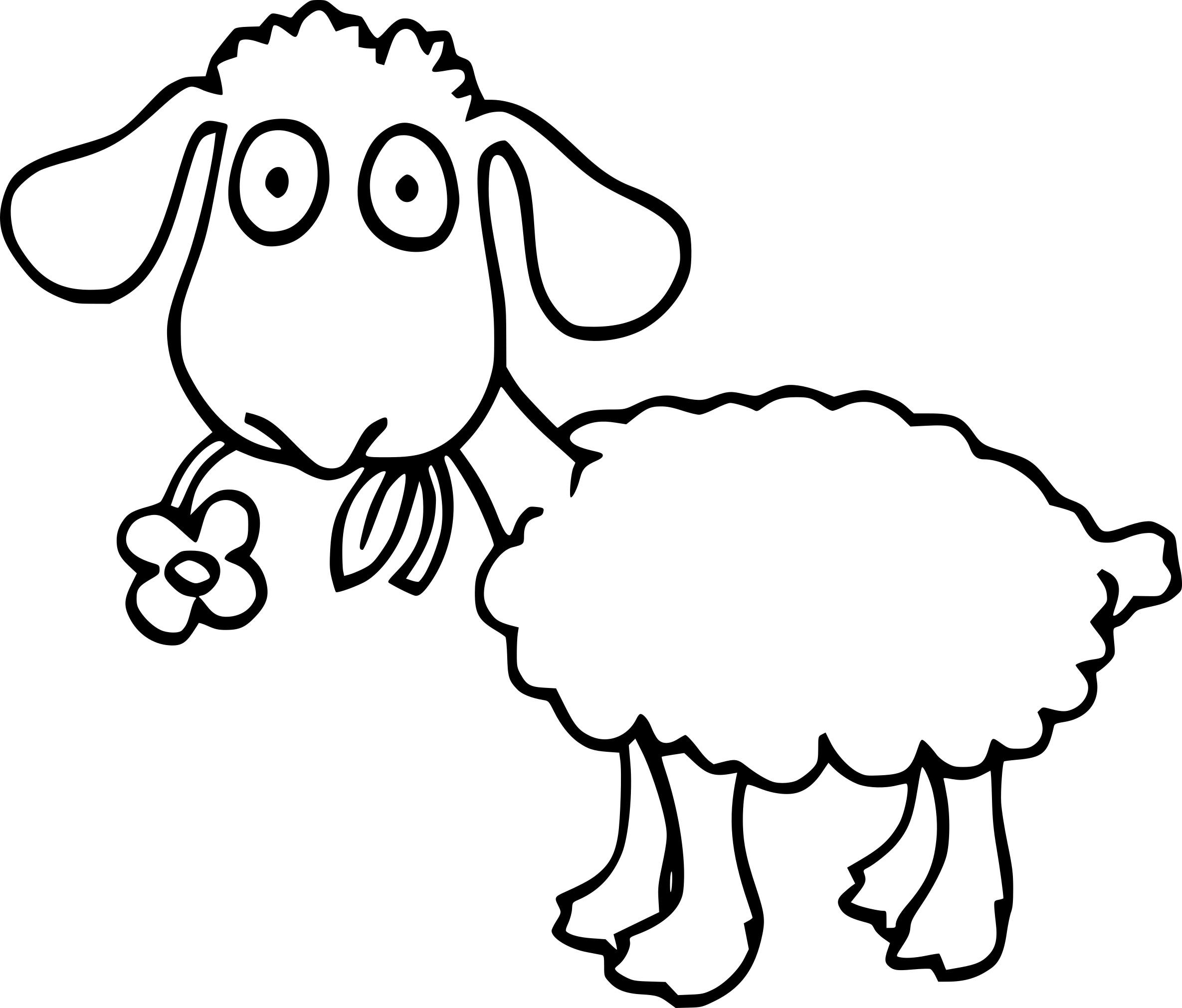 Coloriage mouton et dessin imprimer - Mouton a dessiner ...