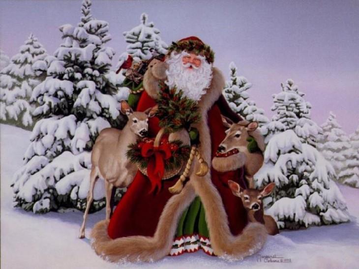 Pere Noel neige
