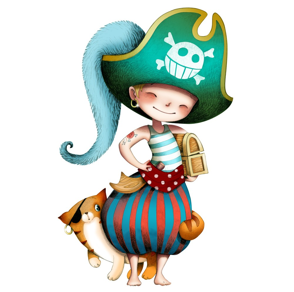 Coloriage pirate fille imprimer - Coloriage fille pirate ...