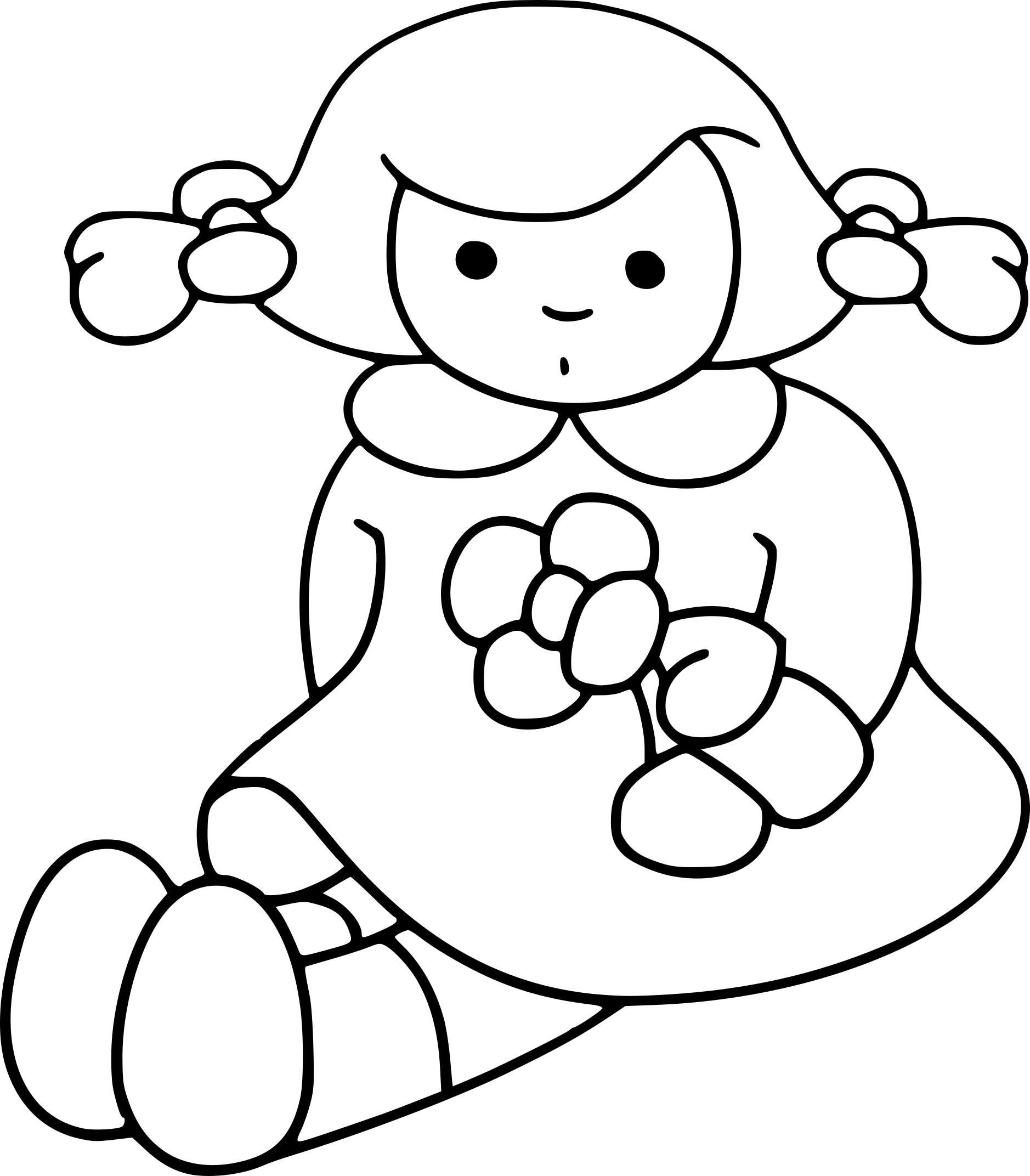 Coloriage poupée gratuit à imprimer