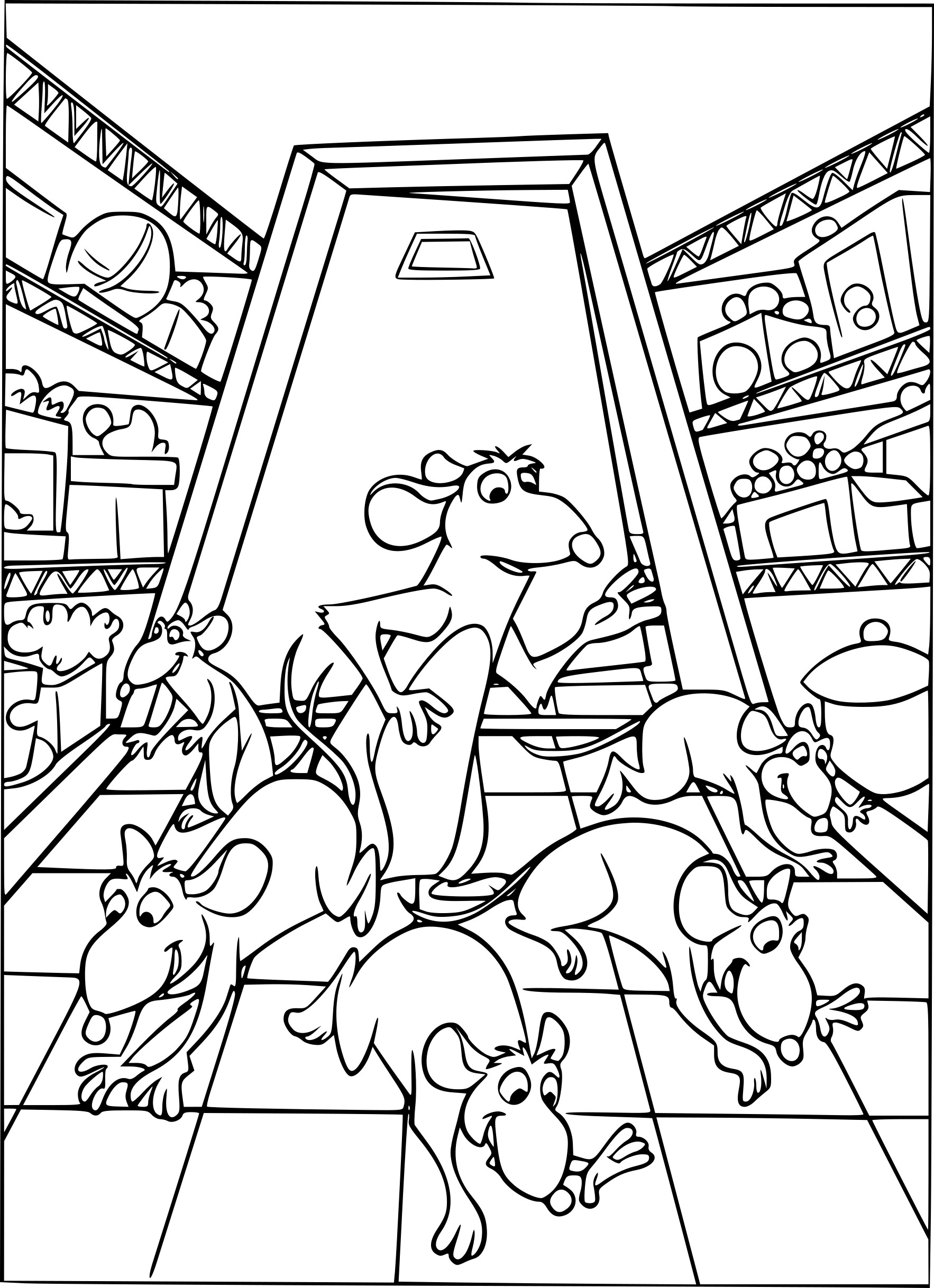 Ratatouille coloriage