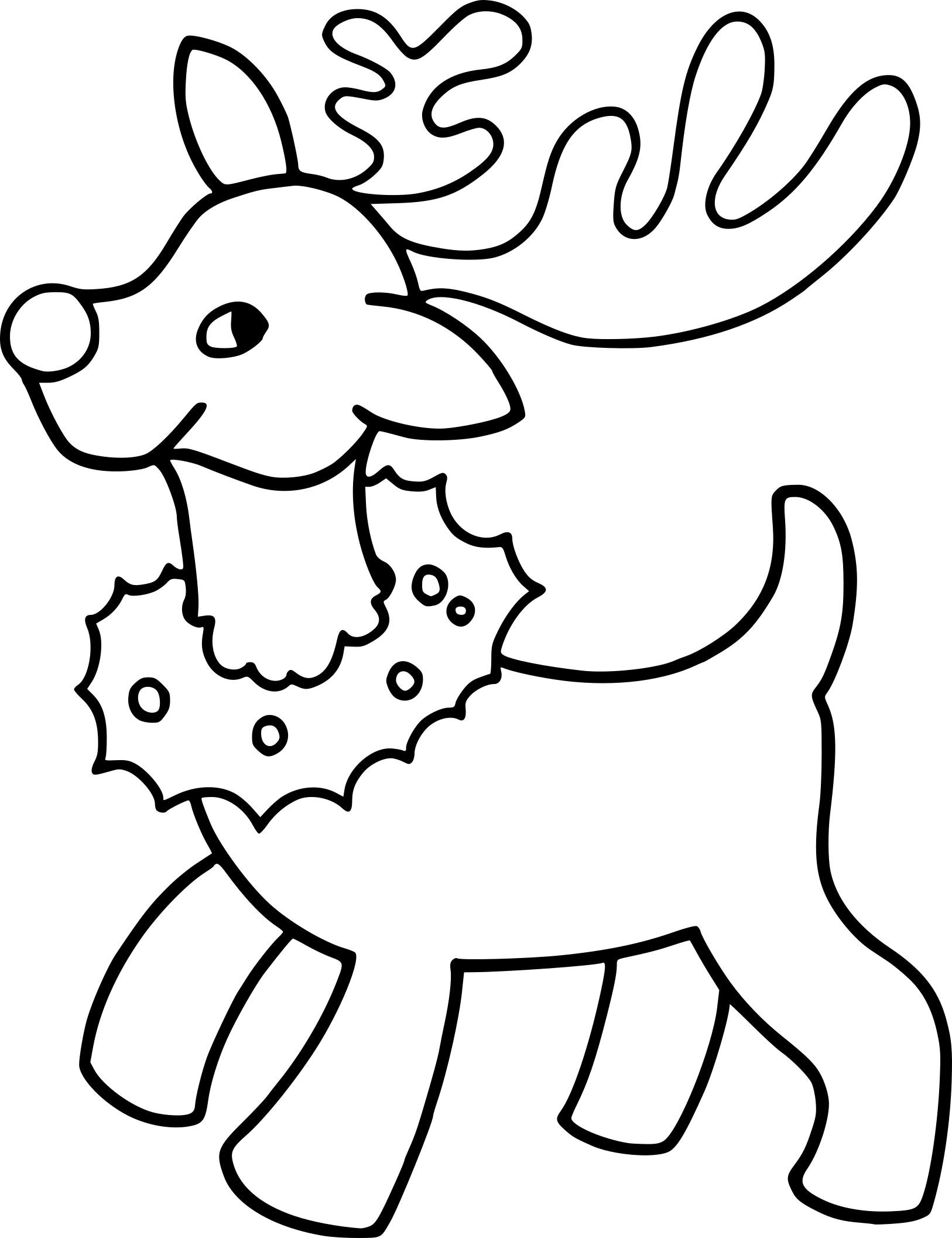 Renne de Noel dessin