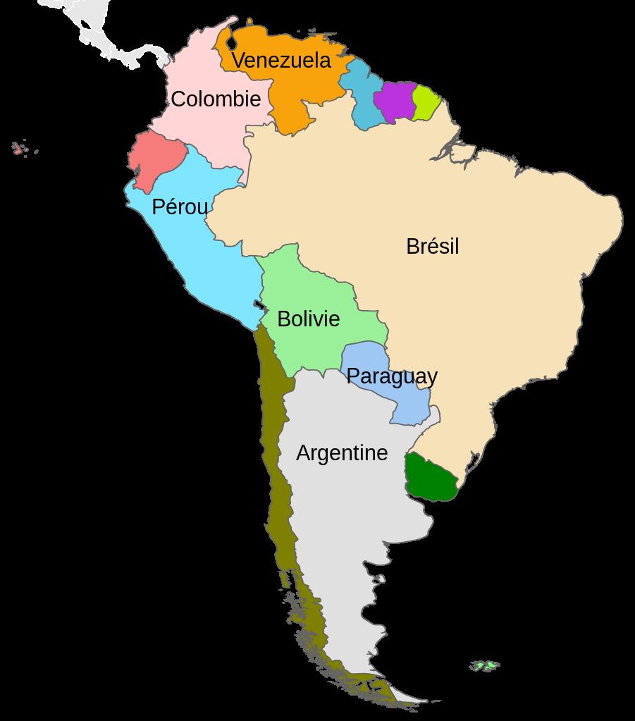 Carte Amerique Du Sud Colorier.Coloriage Amerique Du Sud A Imprimer