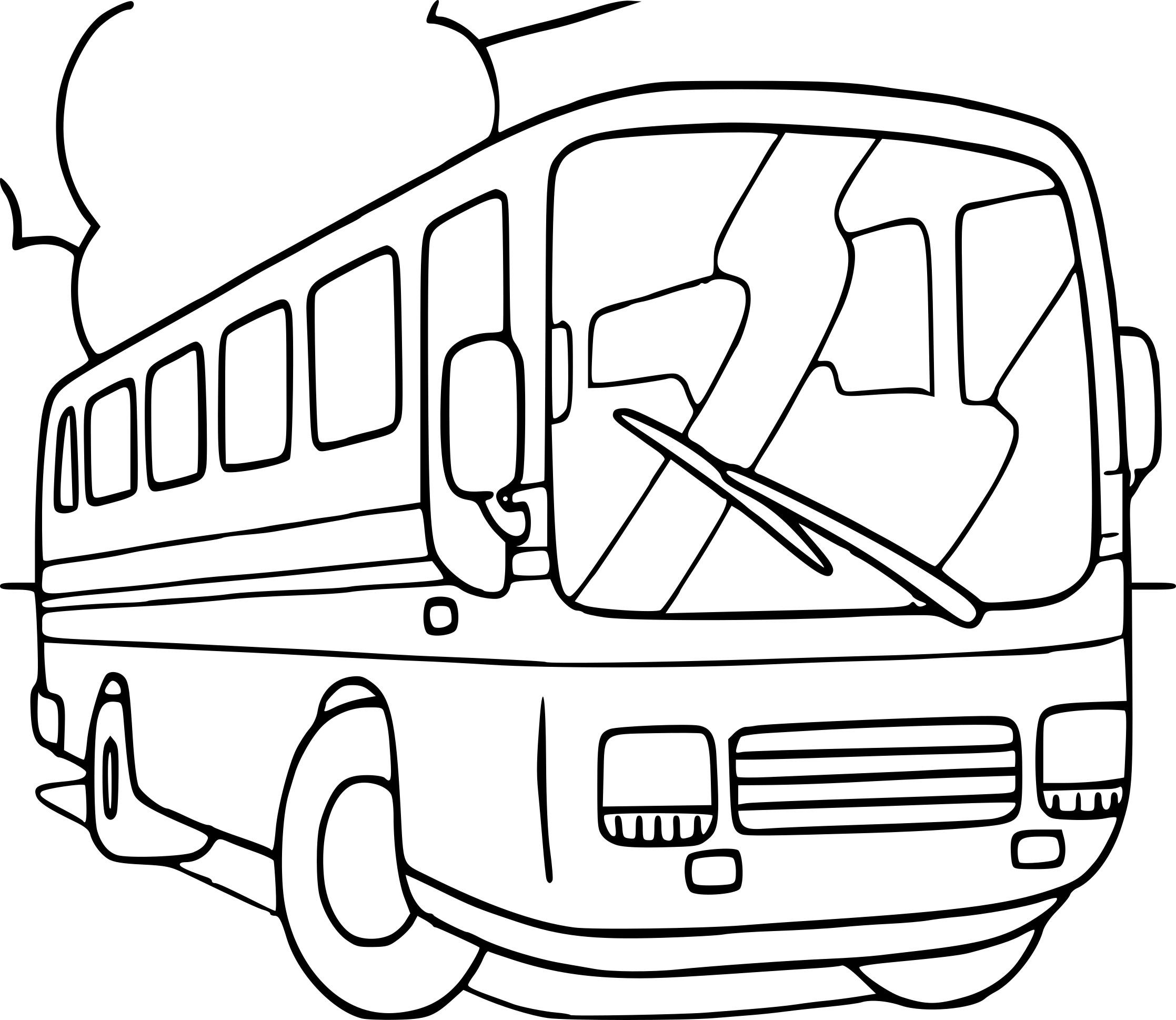 Coloriage Autobus Gratuit à Imprimer