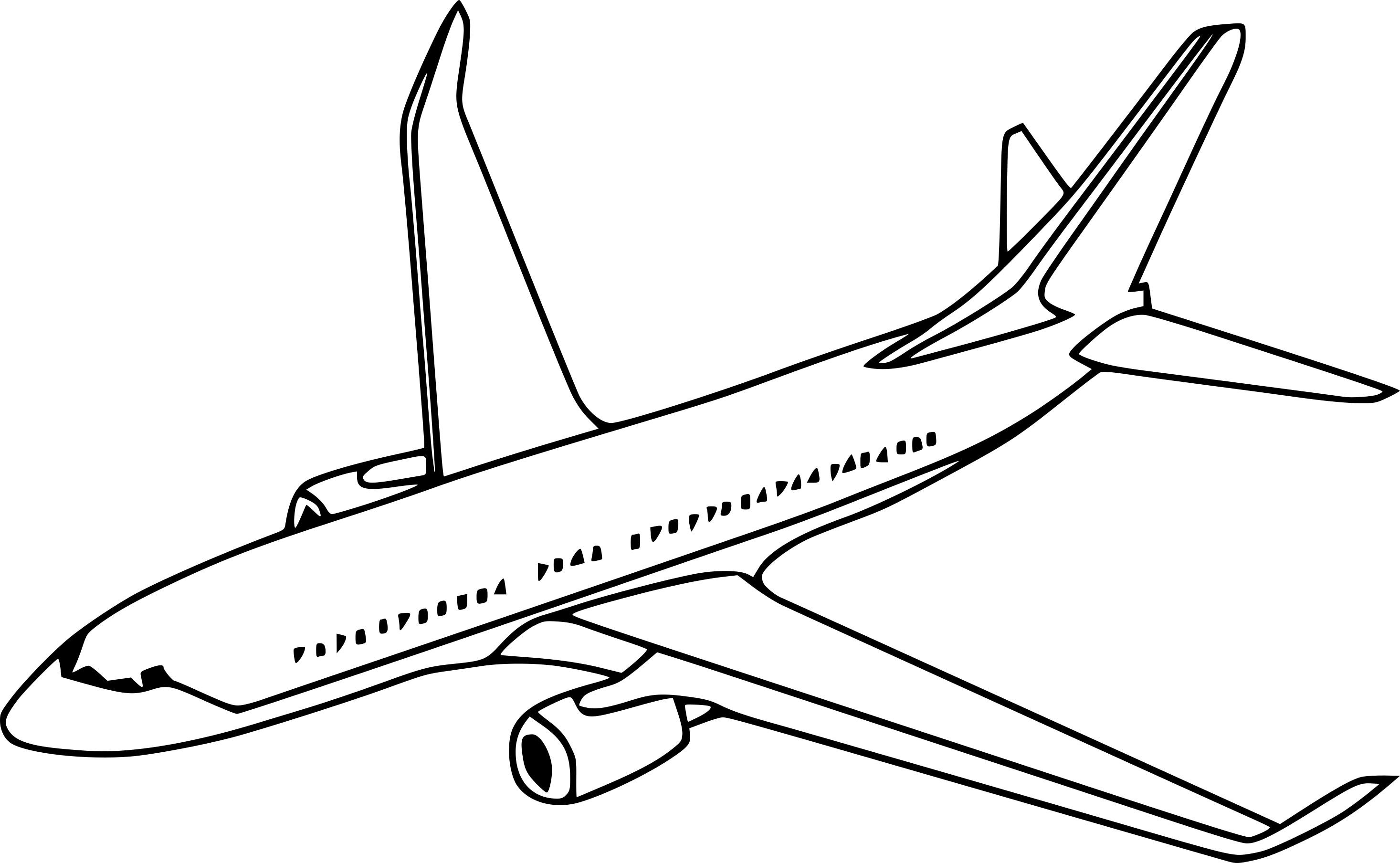 Coloriage Avion Gratuit à Imprimer