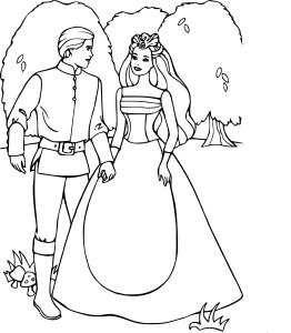 Barbie et Ken dessin