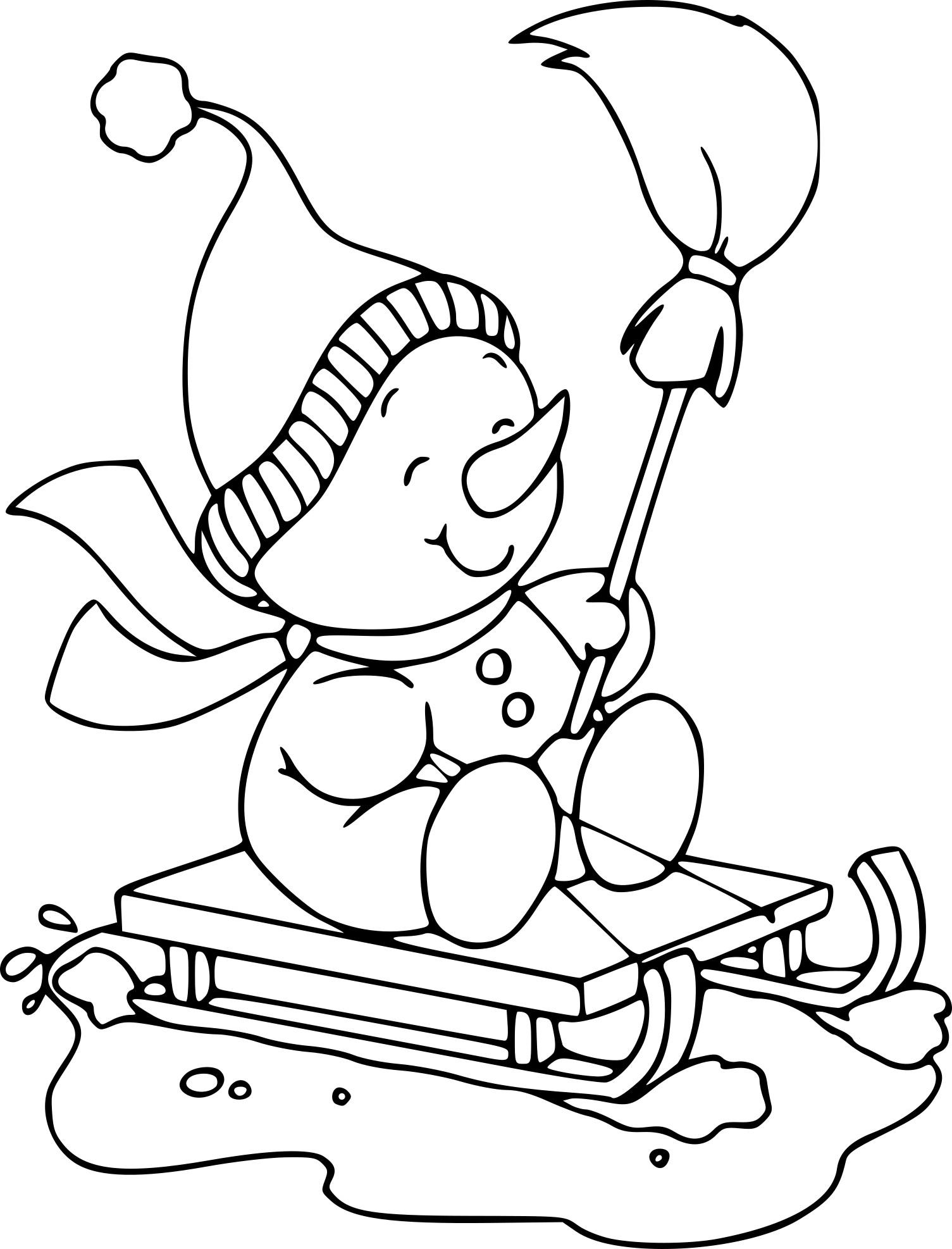 Coloriage bonhomme de neige et dessin imprimer - Dessin de neige ...