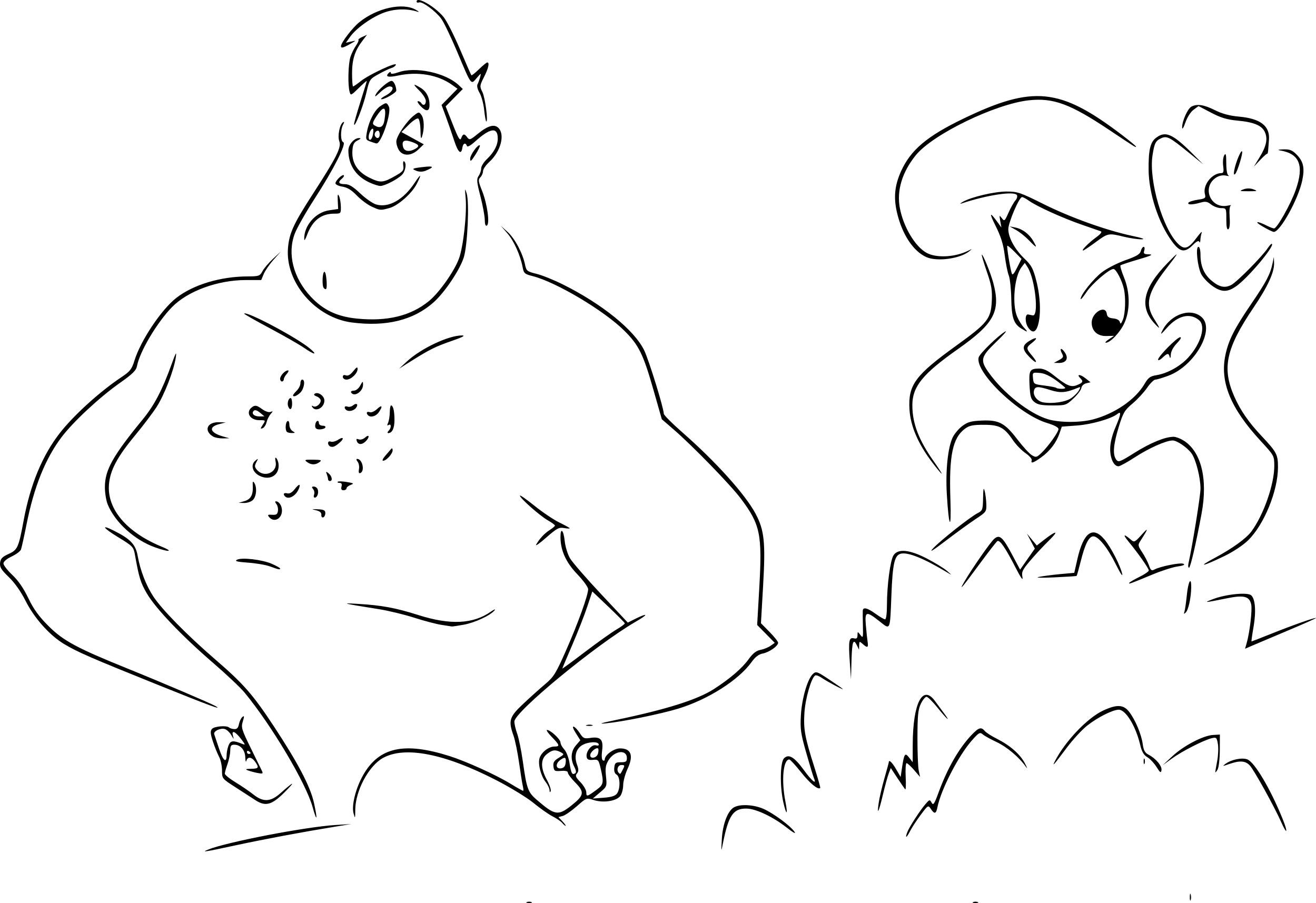 Coloriage Adam et Eve Animaniacs