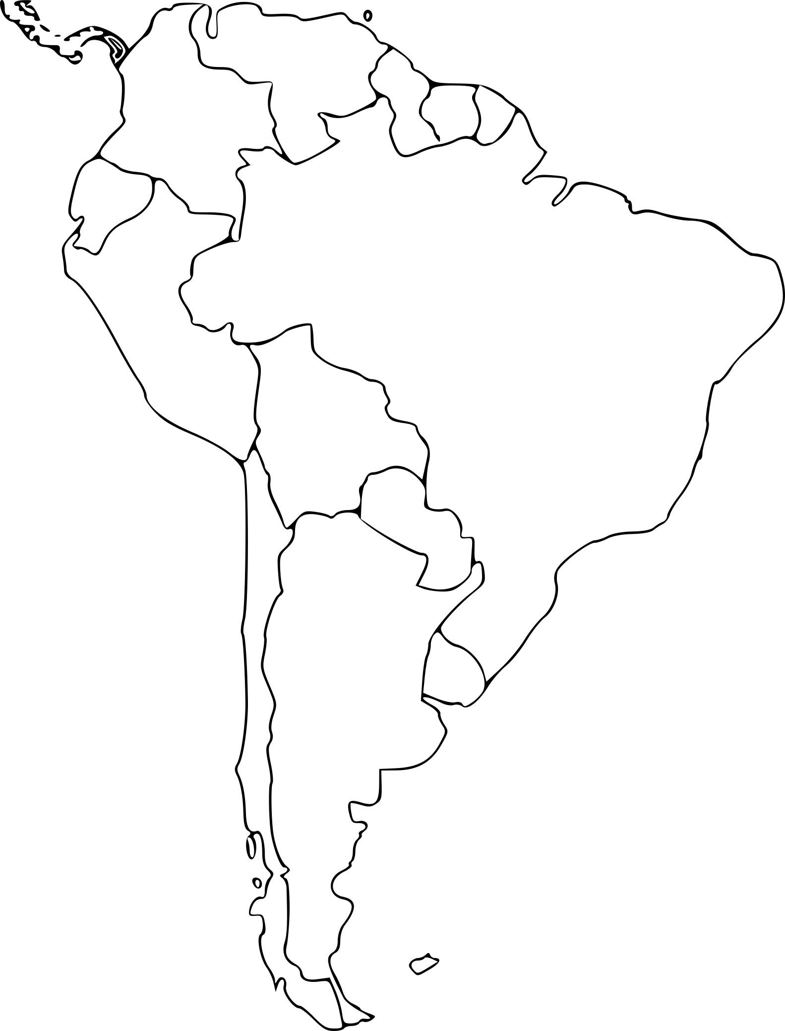 Coloriage Amerique du sud