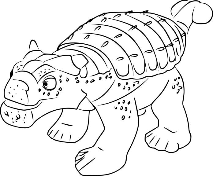 Coloriage Ankylosaurus dinosaure