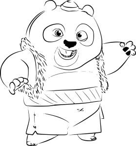 Coloriage Bao Kung Fu Panda 3