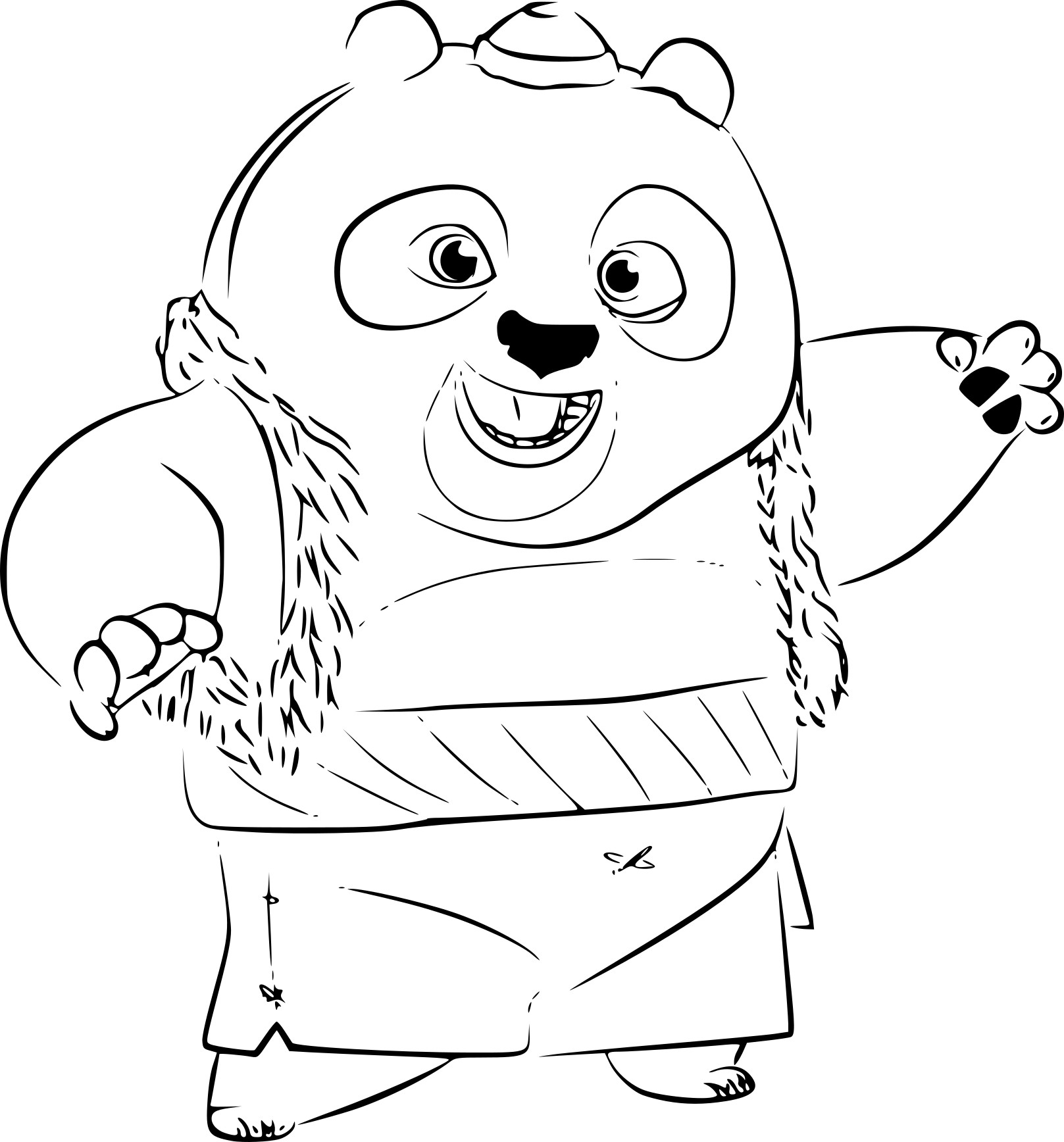 Coloriage Bao Kung Fu Panda 3 A Imprimer