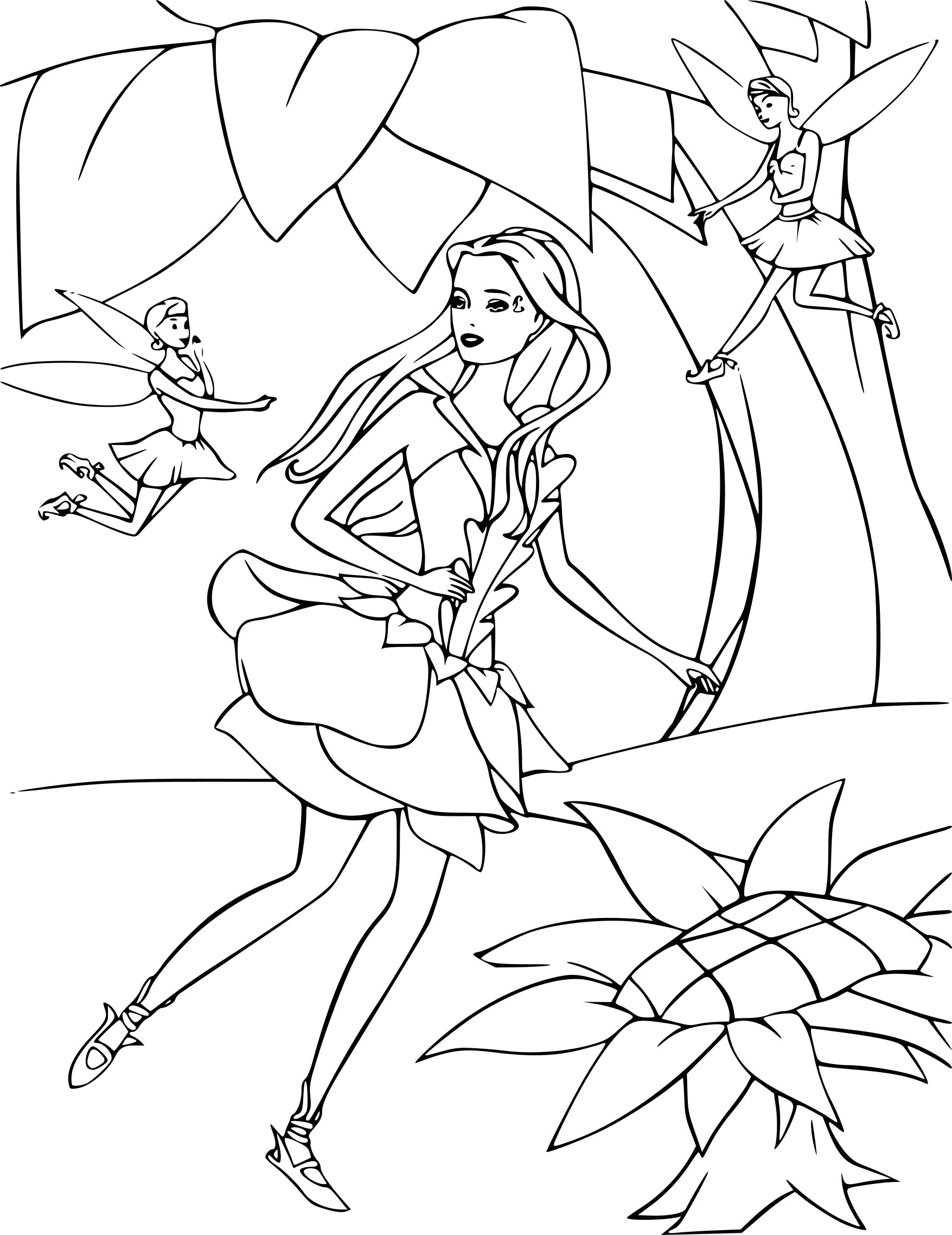 Coloriage Barbie fée